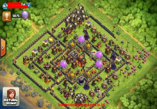Gambar Base COC TH 10  Type Hibrid 1