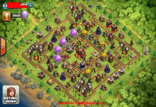 Gambar Base COC TH 10  Type Hibrid