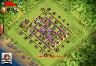 Koleksi gambar base th 8 type farming, hibrid dan troopy terkuat yang sering digunakan oleh pemain Clash of Clans.