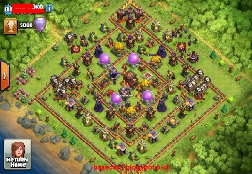 Gambar Base COC TH 10  Type Farming