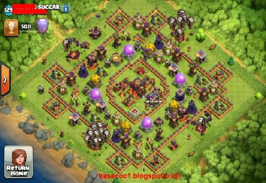 Gambar Base COC TH 10  Type War