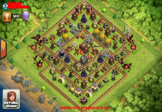 Gambar Base COC TH 10  Type Farming 1