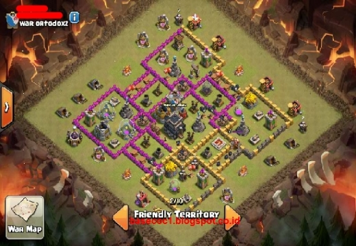 Formasi Gambar Base COC TH 9 Type War