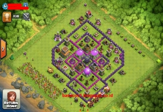 Gambar Base TH 8 Type Farming, Hibrid dan Troopy Terkuat