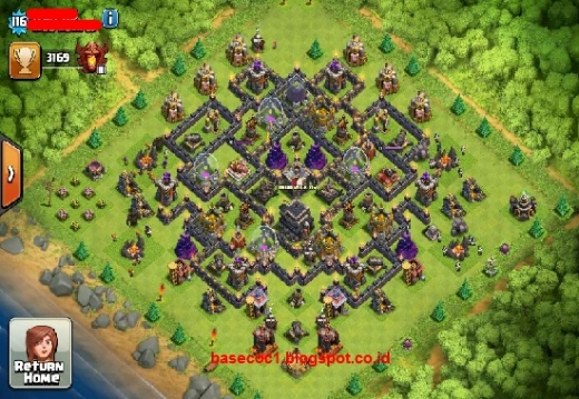 Formasi Gambar Base COC TH 9 Type Hibrid