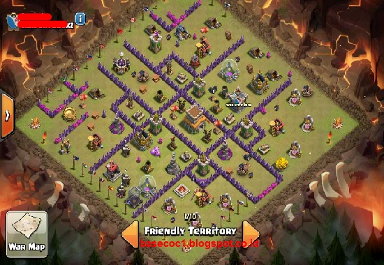 Base Coc Th 7 Terkuat Anti Naga Dan Giant 2